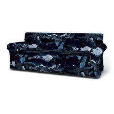 Ektorp, Sofa Covers, 3 Seater, Regular Fit using the fabric För att Himlen är Blå  Deep Navy Blue