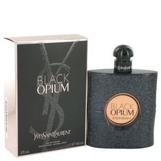 Black Opium by Yves Saint Laurent 3 oz Eau De Parfum Spray for Women NIB #YvesSaintLaurent