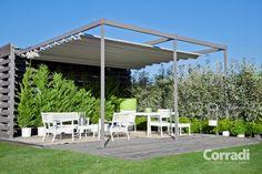TERRASOVERKAPPING Corradi | DESIGN zonwering met opvouwbaar doek | Subsolo Outdoor Designers
