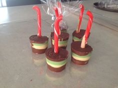 Hot chocolate stirrers with hidden marshmallow, the best!!