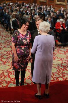 Queen Elizabeth II presents honors at Windsor Castle Oct. 7, 2016