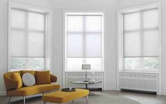 Striped Roller Blinds In A Cay Window