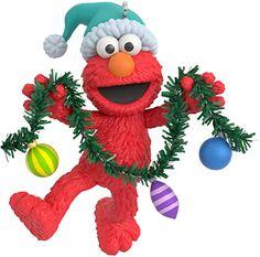 Elmo Christmas, Plastic Christmas Tree, Diy Felt Christmas Tree, Hallmark Christmas Ornaments, Christmas Cartoons, Hallmark Keepsake Ornaments, Personalized Ornaments, Great Christmas Gifts, Christmas Images