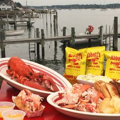 Abbott's Lobster in the Rough, Noank, Connecticut - The Best Lobster Rolls in America - Coastal Living