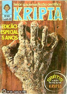 Revista Kripta #60 - RGE (1976) - Quadrinhos de terror, suspense, ficção e sobrenatural