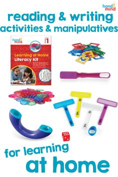 A perfect addition to your remote learning routine!  This kit comes with six weeks of lessons, activities, and games for your child to build school connections with their learning at home. This kit makes learning accessible for all students and is made to reinforce core instruction.  Use the planning calendar to plan your lessons, the activity book for practice, and the phoneme phone, finger focus highlighter, and magnetic wand and chips for hands-on learning. Spelling Activities, Writing Activities, Sentence Building, Planning Calendar, Family Engagement, Making Words, Literacy Stations, Hands On Learning, Activity Centers