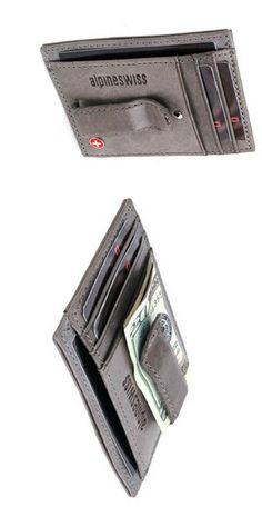 If you have never used a front pocket wallet, give the Alpine Swiss Spring Money Clip Wallet a try and you will never go back to your big fat wallet again!