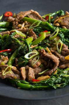 Add a bold flavor to a traditional beef and broccoli quick fry by substituting wth Broccoli Rabe. The Broccoli Rabe have your taste buds thanking you. Broccoli Rabe Recipe, Broccoli Raab, Broccoli Beef, Rib Recipes, Asian Recipes, Prime Rib, Taste Buds, Chinese Food, Meals