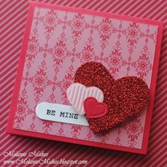 Little Love Note Hearts by MelanieMakes - Cards and Paper Crafts at Splitcoaststampers