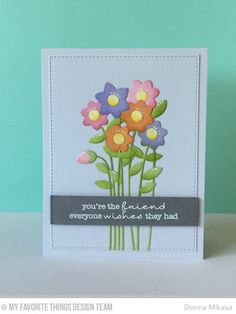 LJD Delicate Pretty Poppies, Fresh Cut Flowers Die-namics - Donna Mikasa  #mftstamps