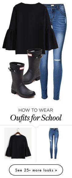 """""""Off of school on Thurs. and Fri."""" by melw44 on Polyvore featuring Hunter"""