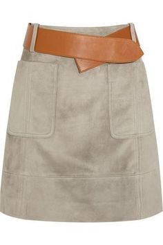 Belted suede skirt #skirt #women #covetme #dereklam