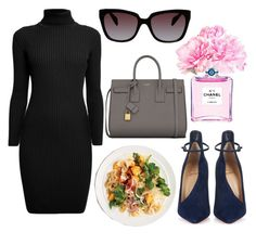 """""""Fancy Restaurant Guest Starter Pack"""" by mariam-jolie ❤ liked on Polyvore featuring Rumour London, Chanel, Christian Louboutin, Yves Saint Laurent and Prada"""