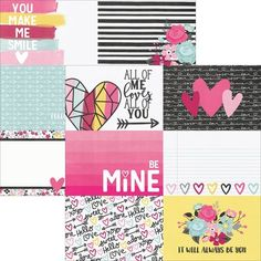 Simple Sets Love & Adore Double-Sided Elements Cardstock 12x12 korttipaja.fi / 1.20e
