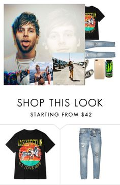 """""""babe meet Leah my little sister-Luke"""" by the-crazy-anons ❤ liked on Polyvore featuring River Island, Converse, men's fashion and menswear"""