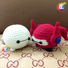 Tsum Tsum Baymax Patterns (Original White Style and Gear Clothing Style) by uDezignCrafts on Etsy