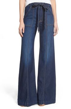 7 For All Mankind® High Rise Palazzo Jeans (Saint Tropez Night) available at #Nordstrom
