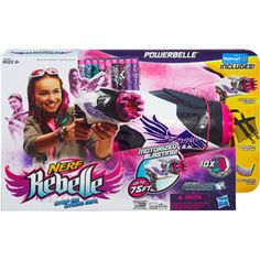 Nerf Rebelle Powerbelle Blaster! A Sassy girly nerf gun! I would have loved this as a kid to play with my brothers... who am I kidding? I want it now!
