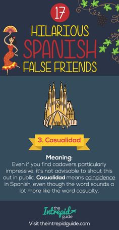 False Friends in Spanish False cognates - Casualidad