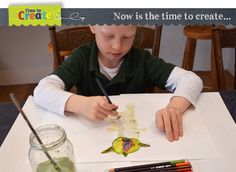 Time To Create - my boy is so excited to have helped Christie from @Christie Moffatt Moffatt Burnett @Christie Moffatt Burnett @Christie Burnett @Childhood101 to write this fabulous book!