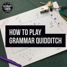 One of my favorite ways to engage my students in grammar instruction is to play Grammar Quidditch. You've been asking to learn how it's played for a long time, and I'm finally sharing the rules and instructions for Grammar Quidditch in this blog post! Click through to get the whole scoop!