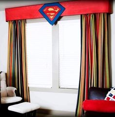 Germani Decor Bella Bambini - Little tiny Super Hero - Custom Panels modern curtains