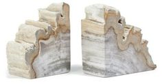 For the new office Pair of Petrified-Wood Bookends One Kings Lane, $79.00