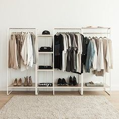 Amazing Awesome DIY Small Bedroom Design Ideas With Close Clothing Rack Open Wardrobe, Diy Wardrobe, Wardrobe Design, Wardrobe Storage, Wardrobe Rack, Wooden Clothes Rack, Hanging Clothes, No Closet Solutions, Storage Solutions
