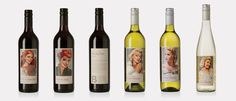 Breakwater 'Starlets' house wine labels by the talented Block Branding crew.