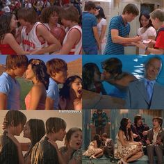Troy and Gabriella almost kiss in all 3 movies High School Musical Quotes, Hight School Musical, Hig School, Zac Efron And Vanessa, Troy And Gabriella, Troy Bolton, What Team, Emperors New Groove, Disney Shows