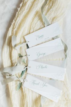 I love how versatile these are - they work as escort cards, place settings or little thank you tags. Printed by hand in Verdigris Green and finished with silk ribbon. Wedding Invitation Suite, Wedding Stationery, Wedding Place Cards, Wedding Day, Anemone Wedding, Japanese Wedding, Destination Wedding Inspiration, Create Invitations, Wedding Prints