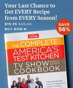 The Complete America's Test Kitchen TV Show Cookbook Food Shows, Tv Shows, Cheap Red Wine, Best Chicken Ever, Best Lemon Bars, Thai Chicken Recipes, Hearty Beef Stew, Company Dinner, Tv In Kitchen