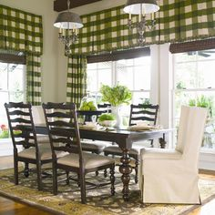 Paula Deen Home Paula's Table w/ 2 Upholstered Wing Chairs & 4 Ladder Back Dining Side Chairs by Paula Deen by Universal | Wolf Furniture