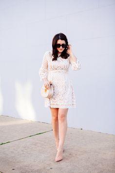 Eliza J. bell sleeve dress from style blogger Kendi Everyday.