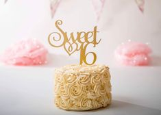 Excited to share this item from my shop: Sweet Sixteen Cake Topper, Sweet 16 Cake Topper, Sweet 16 Party Decor, Birthday Cake Topper, Birthday 1st Birthday Party Bags, 30th Birthday Cake Topper, Birthday Cake Decorating, Happy Birthday Cakes, Birthday Cupcakes, 16th Birthday, Birthday Fun, Sweet 16 Cupcakes, Hen Party Cakes
