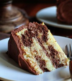 perfect marble cake and whipped chocolate buttercream ~ http://iambaker.net