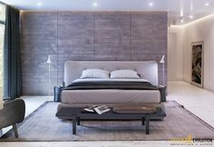 loft-by-design-evolution-10 wood wall behind the bed and concealed lighting