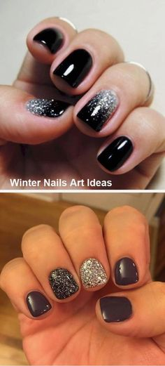 Perfect Nails, Gorgeous Nails, Pretty Nails, Best Nail Art Designs, Toe Nail Designs, Gel Nagel Design, Winter Nail Art, Silver Nails, Nagel Gel