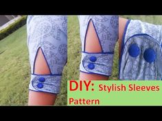21 Ideas For Sewing Patterns Mens Tutorials Full Sleeves Design, Kurti Sleeves Design, Sleeves Designs For Dresses, Fancy Blouse Designs, Sleeve Designs For Kurtis, Salwar Designs, Kurti Neck Designs, Dress Neck Designs, Sewing Sleeves