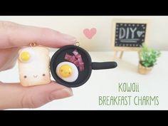 Kawaii Breakfast Toast & Eggs polymer clay tutorial