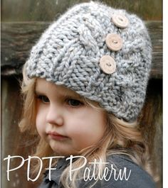 Knit Hat Pattern for Toddler-Adult