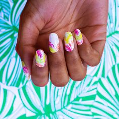 Summer neon nails using dry nail polish strips. No more waiting for your nails to dry. These 100% real nail polish strips will give you a salon quality manicure in a matter of minutes. Summer nail trends with Color Street nail polish strips. Color street nail polish is 100% real nail polish in dry strip from #colorstreet #neonnails #nailpolish #summernails #colorstreetnailstrips #nailpolishstrips
