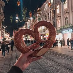 Weihnachtsmarkt - Christmas markets in Graz (Austria). You can get here awesome big pretzels and other tasty treats!