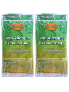 6 Hoover HEPA Allergy Type Y Bags, WindTunnel Upright Vacuum Cleaners, 43655109, 4010100Y, 4010801Y, AH10060DT,AH10040CLP,902419001, Royal, Gold Star, Pacific Steamex
