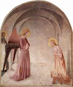 Fra Angelico, The Annunciation, c. 1438-47, fresco, 230 x 321 cm (Convent of San Marco, Florence).