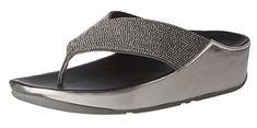 #FitFlop Fitness Schuhe Sandale - Crystall Damen Sandalen, silber.