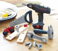 Bosch Tools Set | Pottery Barn Kids | Dylan HAS to have a screwdriver just like Daddy's! $39