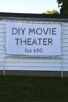 Diy massive movie screen instructions diy projects pinterest transform your backyard into a diy outdoor movie theater freerunsca Image collections