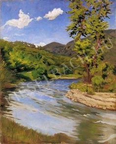 Szőnyi István (1894-1960) Patakpart napfényes éggel (80 x 100 cm) című alkotásának jellemzői - Kieselbach