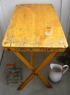 Oh this Antique French Cafe Table...